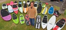 Jimmy Lewis SUP Quiver, Kiteboards and Surfboards