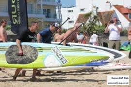 Bay SUP racing at Poole